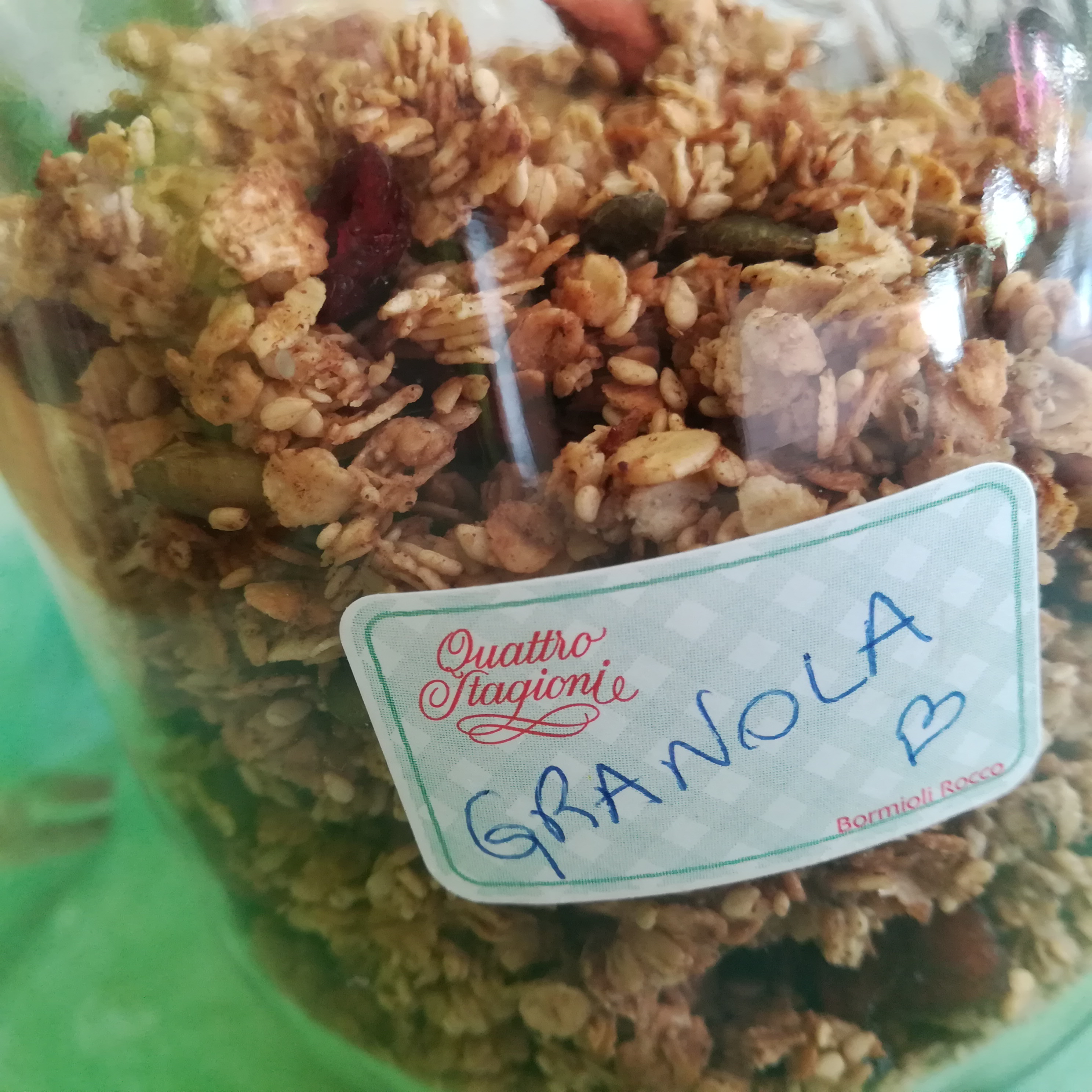 bocal de granola